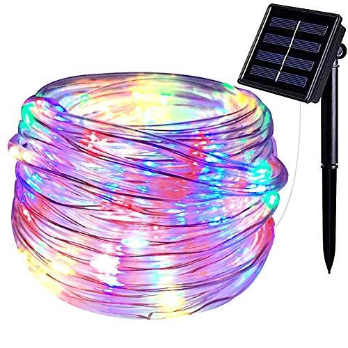 GYFHMY 72ft 200LED Outdoor Solar Rope Lichterketten, Multicolor Waterproof Fairy Light, Ambiente Beleuchtung für Patio Gardens Homes Party Urlaub Dekoration