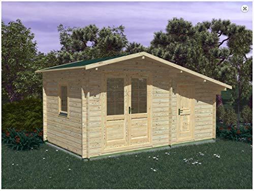Mondocasette Casa Gartenhaus aus Holz - Modell Deco Wandstärke 45 mm 5 x 3 m