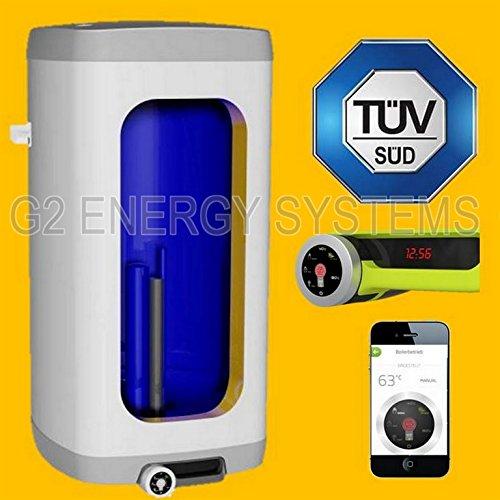125 L Liter wandhängender Warmwasserspeicher inkl. 2,0 kW Heizleistung - Nachtstrom-Anschluss möglich