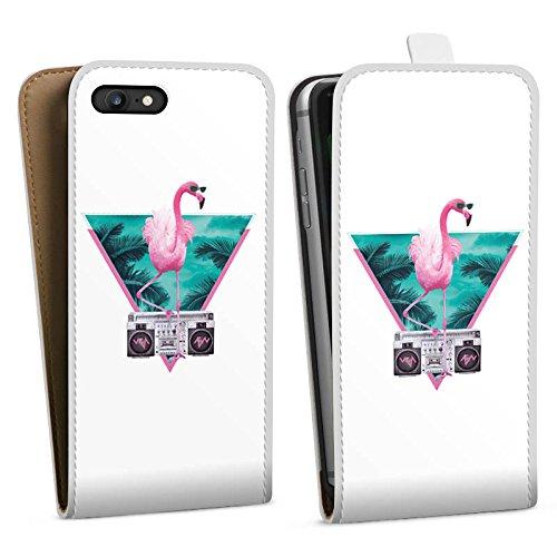 Apple iPhone X Silikon Hülle Case Schutzhülle Flamingo Dreieck Disco Downflip Tasche weiß