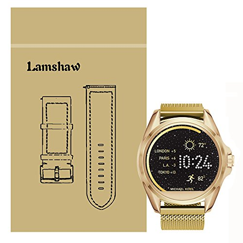 Ceston Milanese Classic Ersatz Uhrenarmband fr Michael Kors Smartwatch (Milanese-Gold)