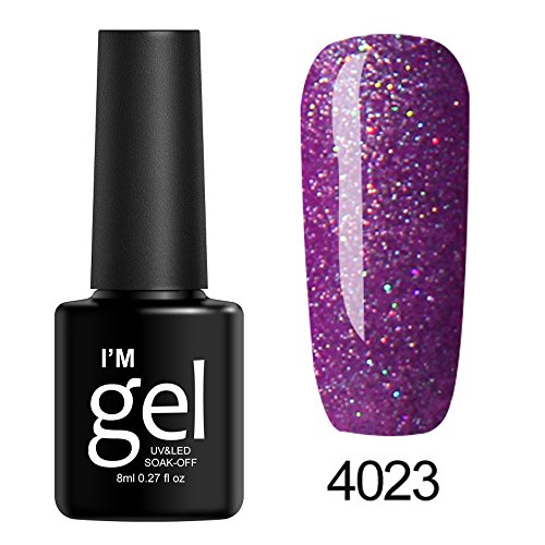 Berrose Star Nagelpolitur Nail Shining UV Gel Polish tränken Art Topcoat Lack Infinite Shine Glitzer