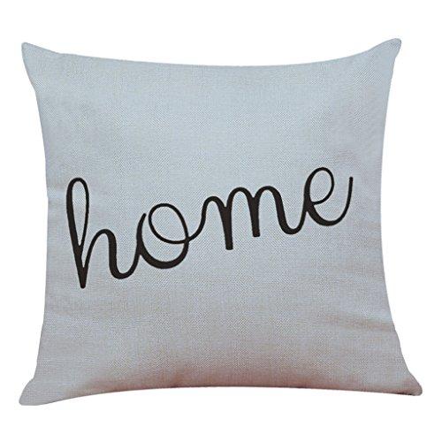 Vovotrade Zuhause Dekor Kissen Abdeckung Einfach Geometrisch Und Brief Gedruckt Werfen Kissenbezug Kissen Abdeckungen (H)