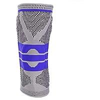 Verano Rótula Tejido de compresión Unisex Equipo de protección Crossover Vendaje Rodillera Deportiva, Rodillera de Fitness, Montañismo para Ciclismo(Dark Blue L)
