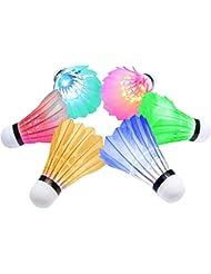 LED Volant de Badminton, [6-Pack] Y-ouni Nuit Noire Lueur Birdies Eclairage
