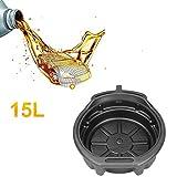 Ambienceo Vaschetta di scarico dell'olio da 15 litri Vaschetta di raccolta del liquido del carburante Vaschetta acqua per ingranaggi per auto