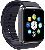 #6: USK's GT08 Bluetooth 4.0 Smartwatches (Samsung,Xiomi,Vivo,redmi,motorola,htc compatible),Sweatproof Smart Watch Phone for iPhone 5s/6/6s and 4.2 Android,supports all local (jio,vodafone,airtel etc) sim cards. Memory card slot and camera.
