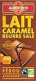 Alter Eco Tablette de Chocolat au Lait Caramel au Beurre Salé Bio et Equitable 100 g