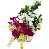 Lanceasy Simulazione Fiori Corsage sposi Uomini Sposa Fiore all'occhiello Pin Flower Wedding