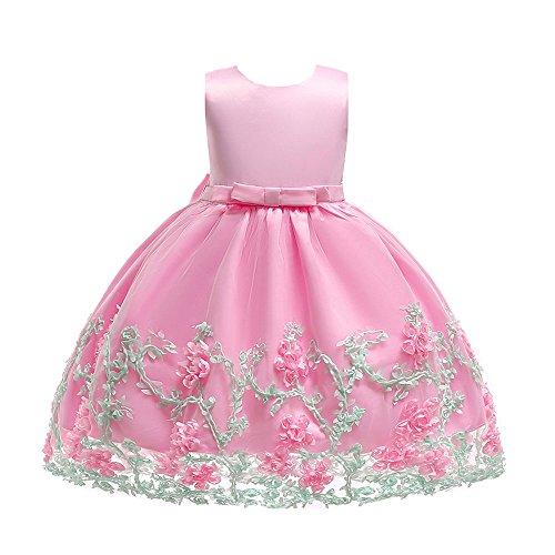 UFODB Partykleider Für Mädchen, Blume Rüschen Cosplay Party Hochzeit Prinzessin Kleid Babybekleidung Baby Festzug Taufkleid Partykleid Tüll Kleidung ()