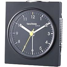 Technoline Geneva Q - Despertador de Cuarzo, color negro