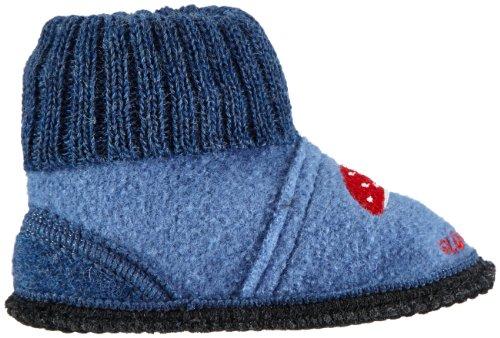 Adelheid  Glückspilz Kinderhüttenschuh, Hi-Top Slippers mixte enfant Bleu - Blau (steinblau 225)
