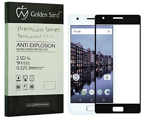 Lenovo Z2 Plus Premium Series Full Screen Tempered Glass - Black Colour [Best Screen Protector Lenovo Zuk Z2 Plus] - Edge to Edge Full Coverage 2.5D Glass, Case Friendly Deisgn, 0.3mm, 9H Hardness, High Touch Sensitivity, Pixel-Perfect Clarity with Premium Installation kit by Golden Sand™