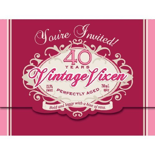 Creative Converting Vintage Vixen 8 Count 40th Birthday Party Invitations by Creative Converting (Birthday Party Vintage-40th)