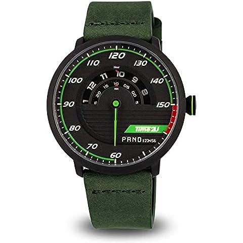 time2u para hombre Sport Motor Racing Salpicadero Dial reloj de cuarzo Casual reloj de pulsera