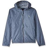 U.S. Polo Assn. Men's Classic Solid Windbreaker Jacket, Blue (Cnht), Small