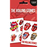 The Rolling Stones tongue logo Nue offiziell Temporary Tattoo Pack