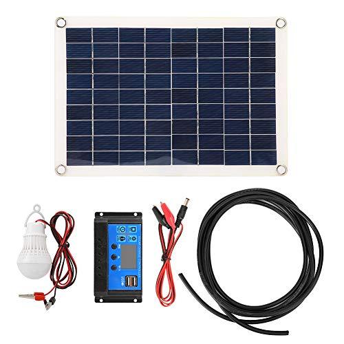 Solar Power Panel, 15 W Dual 5 V USB Solar Power Panel Kit Autobatterie-Ladegerät-Controller