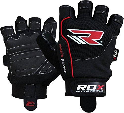 RDX Guantes de entrenamiento de fitness guantes Crossfit Descansa muñecas Sport Guantes Levantamiento krafttraining Workout Bodybuilding dominadas Gym Gloves