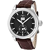 Ball Trainmaster First Flight Limited Edition Black Face Date Swiss Automatic Black Leather Mens Watch GM1056D-L2FJ-BK