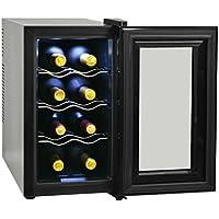 Festnight- Vinoteca 25 L Pantalla de LCD 8 Botellas 25,2 x 50 x 45 cm Negro