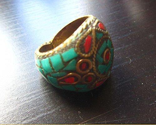 Himalaya Tibet Ringe blau türkis rot Korallen Bronze tibetischen Himalaya Indien Zauberer Magie Reiki Wicca Energie Energien Mythologie Geschichte Kunst Archäologie Anthropologie antike