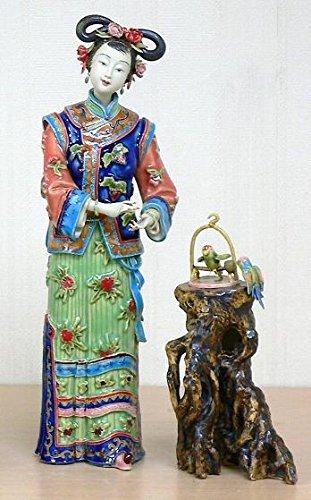 Chinesische Oriental Keramik/Porzellan Figur Dame Voller Freude - Figuren Porzellan Chinesische