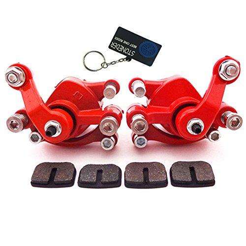STONEDER, pinza del freno a disco anteriore e posteriore e cuscinetti, per motori a 2tempi da 47cc e 49cc, mini quad ATV, monopattino elettrico Goped, moto da cross da bambini, minimoto