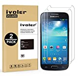 [Lot de 2] Samsung Galaxy S4 mini Protection écran, iVoler Film Protection d'écran en Verre Trempé Glass Screen Protector Vitre Tempered pour Samsung Galaxy S4 mini - Dureté 9H, Ultra-mince 0.30 mm, 2.5D Bords Arrondis- Anti-rayure, Anti-traces de Doigts,Haute-réponse, Haute transparence- Garantie de Remplacement de 18 Mois