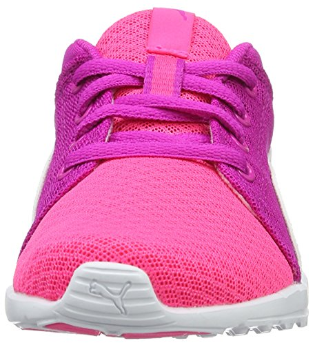 Puma Carson Runner 400 Mesh Ps, Sneakers Basses Mixte Enfant Rose (Knockout Pink-puma White 04)