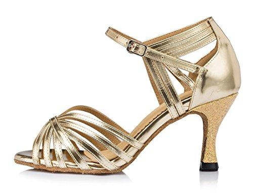 TDA - Peep-Toe donna 7.5cm Heel Gold
