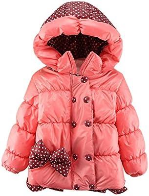 Abrigo de plumón infantil con capucha para el invierno, de 1 a 4 años
