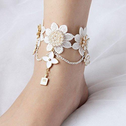 vintage-white-lace-pearl-epoxy-enamel-flower-anklet-pour-femme