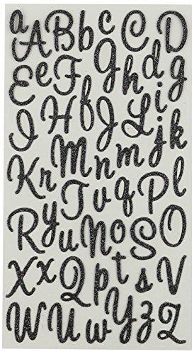 Unbekannt Sticko Sweetheart schwarz Script Alphabet Aufkleber -
