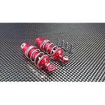 Tamiya TT-02 Upgrade Parts Aluminium Front/Rear Adjustable Aluminium Ball Top 53mm Damper - 1Pr Red