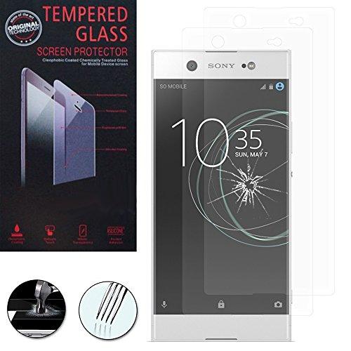 VComp-Shop® 2x Hochwertige gehärtete Panzerglasfolie für Sony Xperia XA1 Ultra 6.0