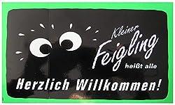 Unbekannt Kleiner Feigling - Herzlich Willkommen - Aufkleber 20,5 x 12,5 cm
