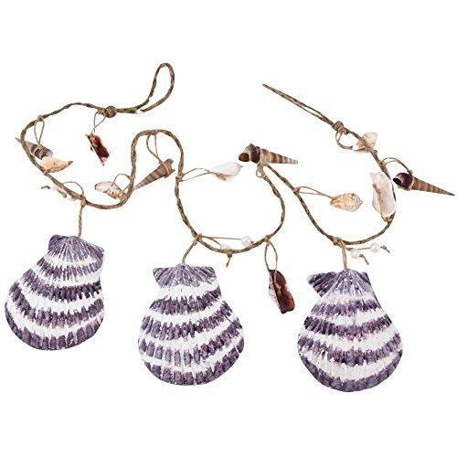 Coquillage Guirlande de décoration Mousse 125 x 10 x 4 cm naturel Maritim