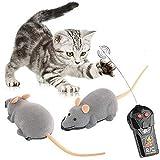 Fliyeong Katzenspielzeug Katze Drahtlose Simulierte Plüsch Maus Spielzeug Ferngesteuerte Maus Spielzeug Chase Spielzeug Heimtierbedarf (Grau)