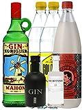 Gin Xoriguer Mahon Gin 0,7 Liter + 1 x Black Gin 5 cl + 1 x Botanist 5 cl + 1 x Thomas Henry Spicy Ginger 1,0 Liter + 2 x Goldberg Tonic 1,0 Liter
