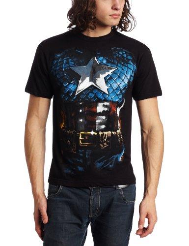Captain America T-Shirt Captain America Armor Costume Tee Marine