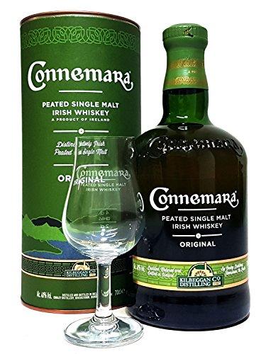 Connemara Geschenkset - Connemara Irish Whisky 70cl (40% Vol) + Glas 2/4cl geeicht