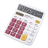 Multi-mo Simple 12-Digit Big Display Handheld Desktop Calculator, Rose red
