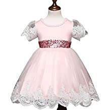 Fuyingda Kids Baby Flower Girls Party Fancy Dress Vestidos de dama de honor de la boda