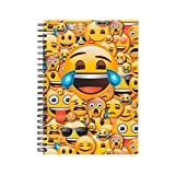 Cuaderno tapa dura espiral Emoji amarillo