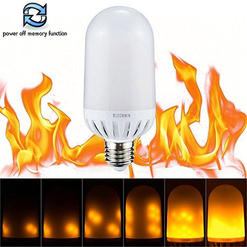 odi und Erinnerung Funktion, Warmweiß 220V LED Flame Bulb Flackerlicht Flackern Feuer Birne Glühbirne Leuchtmittel für Weihnachten, Halloween, Party, Hochzeit (Dies Ist Halloween Home)