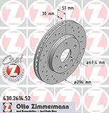 ZIMMERMANN 430.2614.52 Bremsscheibe Scheibenbremsen, Bremsscheiben (x2)