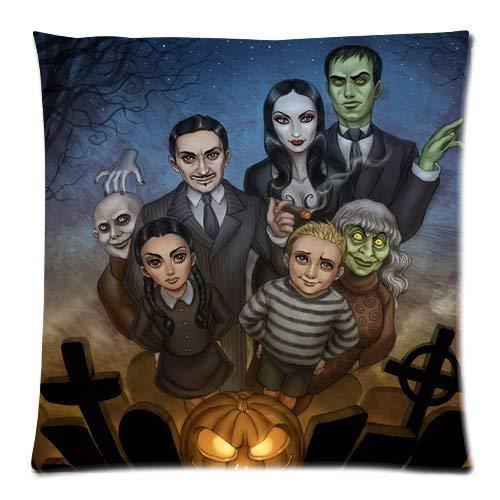 Family Halloween Horror Tomb Ghost Custom Throw Pillow Pillowcase DIY Cushion Case Roomy Kissenbezüge 18x18Inch(45cmx45cm) ()