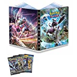 #4: AncientKart Pokemon Big Sized High Quality Ultra Prism Booster Collector Binder Folder Album File with 216 Holders & Card Packs