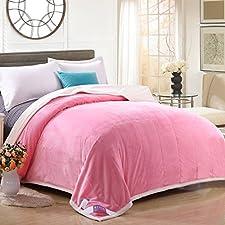 BDUK Bebe fusselfreien Doppel zusammengesetzte Decke Warm Winter Flanell Decken Decken Einzelzimmer Doppelzimmer Coral Daunendecke